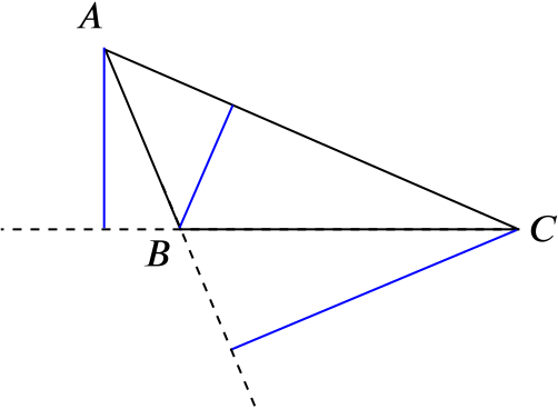 triangle showing altitudes