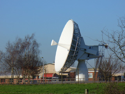 satellite dish from R A F Oakhanger courtesy of Colin Smith