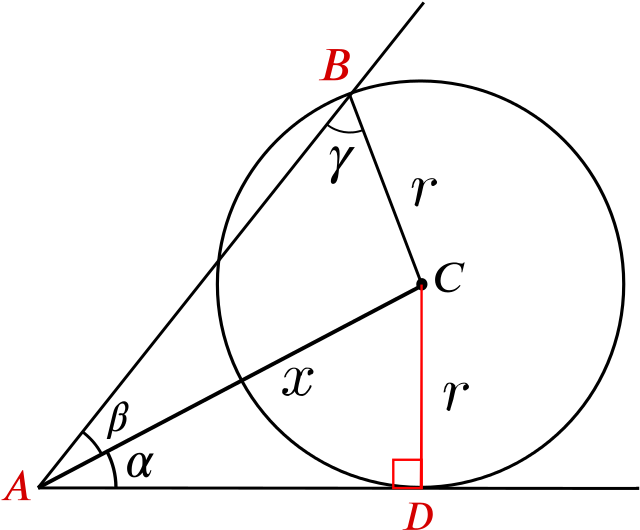 The same diagram as above but with the additional points A,B, and D marked