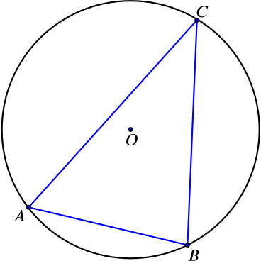 circle with a triangle inside it