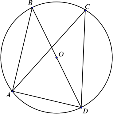 two angles from a chord in a circle